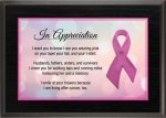 Awareness Ribbon Full Color Plaque - Pink Economy Finish Plaques