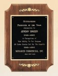 Walnut Plaque with Decorative Accents Economy Plaques Made in the USA