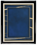 Expression Series Plate (Blue) with Piano Finish Plaque Expression Series