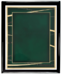 Expression Series Plate (Emerald) with Piano Finish Plaque Expression Series