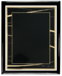 Expression Series Plate (Black) with Piano Finish Plaque Expression Series
