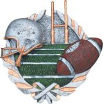 Football Plaque with Full Color Mount Fantasy Football Awards