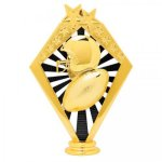 Football Black and Gold Sunrise Figure on Round Base    Fantasy Football Awards