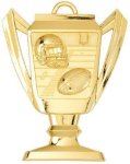 Football - Trophy Cup Medallion Fantasy Football Medals