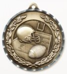 Diamond Cut Medal - Football Fantasy Football Medals