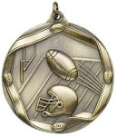 Football - Ribbon Medallion Fantasy Football Medals