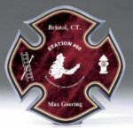 Maltese Cross Fire Department Acrylic Plaque Fire, Police and Safety