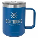 15 oz. Stainless Steel Polar Camel Mug - Blue Fire, Police and Safety
