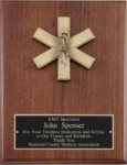 American Tribute Series Walnut Plaque - EMT Fire, Police and Safety