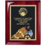Fireman American Tribute Plaque Fire, Police and Safety