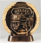 Police American Tribute Resin Fire, Police and Safety