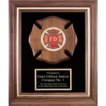 Maltese Cross Fireman Framed Award Fire, Police and Safety