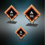 Galaxy Acrylic & Bamboo Plaques with Stand - Red Fire, Police and Safety