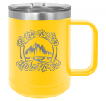 15 oz. Stainless Steel Polar Camel Mug - Yellow Fire, Police and Safety