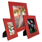Leatherette Photo Frame - Red/Black Fire, Police and Safety