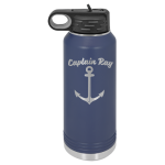 32 oz. Polar Camel Water Bottle - Navy Blue Fire, Police and Safety