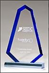 Flame Series with Blue Accent Acrylic Award Fire, Police and Safety