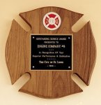 Maltese Cross Fireman Award Fire, Police and Safety