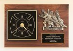Fireman Award Clock with Antique Bronze Finish Casting. Fire, Police and Safety