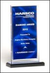Upright Acrylic Award with Satin Pattern Fire, Police and Safety