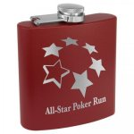 Powder Coated Stainless Steel Flask - Matte Maroon Flasks and Bar Items