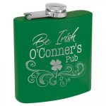 Powder Coated Stainless Steel Flask - Matte Green Flasks and Bar Items