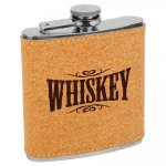 Cork Stainless Steel Flask Flasks and Bar Items
