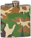 Flask - Stainless Steel - Camouflage Flasks and Wine Bags
