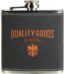 Flask - Leatherette - Dark Gray/Orange Flasks, Mugs, Bottles