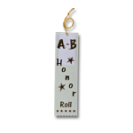 A-B Honor Roll Ribbon with Card and String Flat Ribbons - Card and String