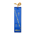 Sportsmanship Ribbon with Card and String Flat Ribbons - Card and String