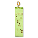 7 Seventh Place Ribbon with Card and String Flat Ribbons - Card and String