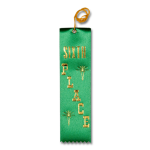 6 Sixth Place Ribbon with Card and String Flat Ribbons - Card and String