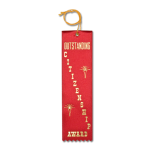 Citizenship Ribbon with Card and String Flat Ribbons - Card and String