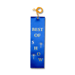 Best of Show Ribbon with Card and String Flat Ribbons - Card and String