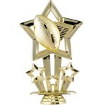 Star Football Figure on Round Base Football and Rugby Awards and Trophies