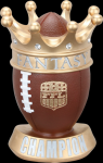 A New Trophy! Fantasy Football League Crown Trophy Football and Rugby Awards and Trophies