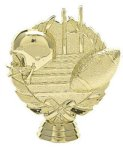 Football Wreath on Round Base Football and Rugby Awards and Trophies