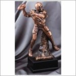 Football (Male) - Bronze Resin Sculpture Football and Rugby Awards and Trophies