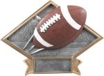 Football - Diamond Plate Resin Trophy Football and Rugby Awards and Trophies