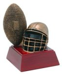 Football - Gold Figure Resin Football and Rugby Awards and Trophies