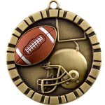 Football - 3-D Medallion Football and Rugby Medals