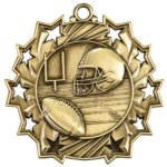 Football - Ten Star Medal Football and Rugby Medals