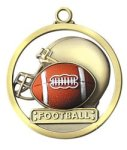 Football - Game Ball Medallion Football and Rugby Medals