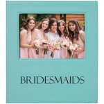 Leatherette Photo Frame with Engraving Area - Teal/Black  Frames