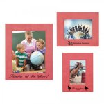 Leatherette Photo Frame - Pink/Black Frames and Gifts