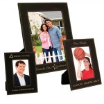 Leatherette Photo Frame - Black/Metallic Gold Frames and Gifts