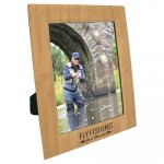 Leatherette Photo Frame - Bamboo Finish/Black Frames and Gifts