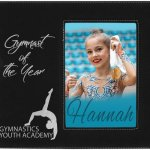 Leatherette Photo Frame with Engraving Area - Black/Silver Frames and Gifts