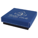 Gift Box with Leatherette Lid - Blue/Silver   Frames and Gifts